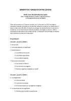 Semántica y bases de datos léxicas. Rosa Martín Gascueña
