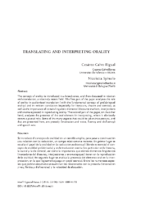 Translating and interpreting orality